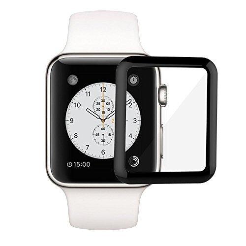 RC 42mm Apple Watchスクリーンプロテクター3dフルConverage、0.2MM強化ガラススクリーンプロテクターfor Apple watch-anti-glare /指紋防止/気泡防止、2パック RCSB00007A