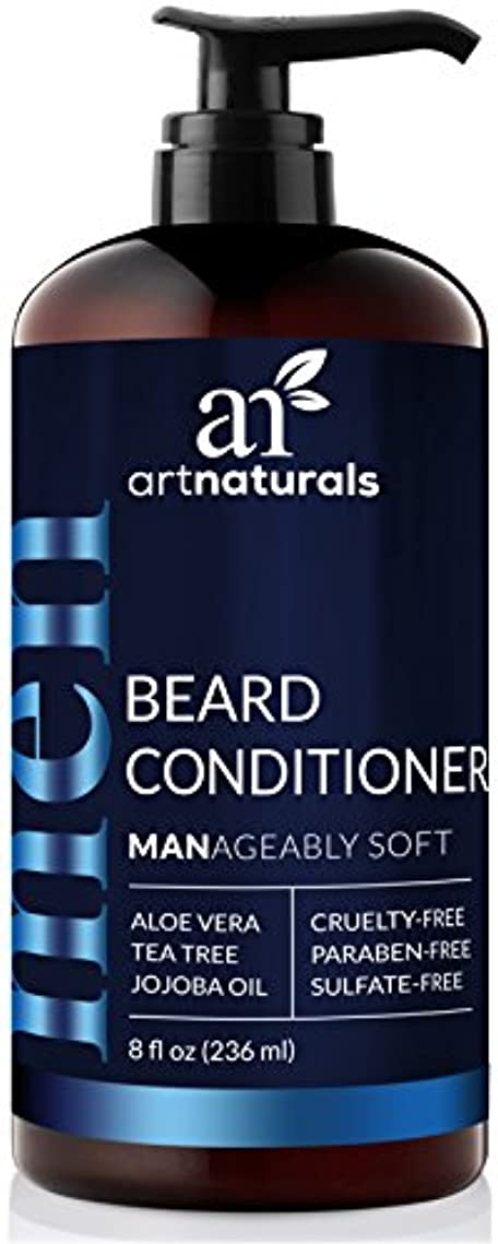 尽きる大砲安全なArtNaturals Natural Beard Deep Conditioner - (8 Fl Oz/236ml) - Infused with Aloe Vera, Tea Tree and Jojoba Oil - Sulfate Free