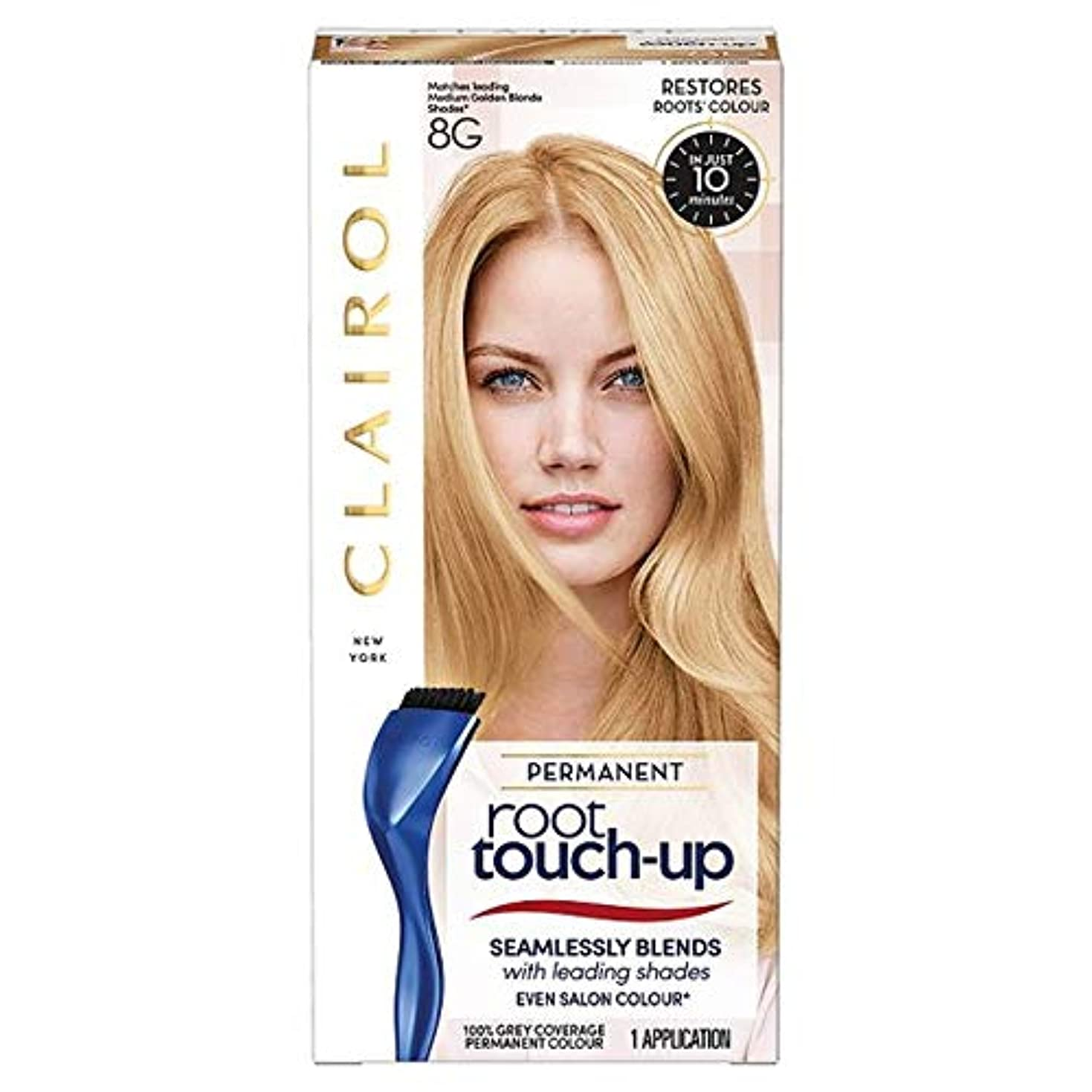 尊厳野望ペインティング[Nice'n Easy] ルートタッチアップ染毛剤中の金ブロンド8グラム - Root Touch Up Hair Dye Medium Gold Blonde 8G [並行輸入品]