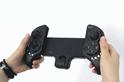 NEW Android/iOS/PC対応 Bluetooth ゲームコントローラー ゲームパット 伸縮性のホルダーを備えiPhone、タブレットに対応 ◇PG9023