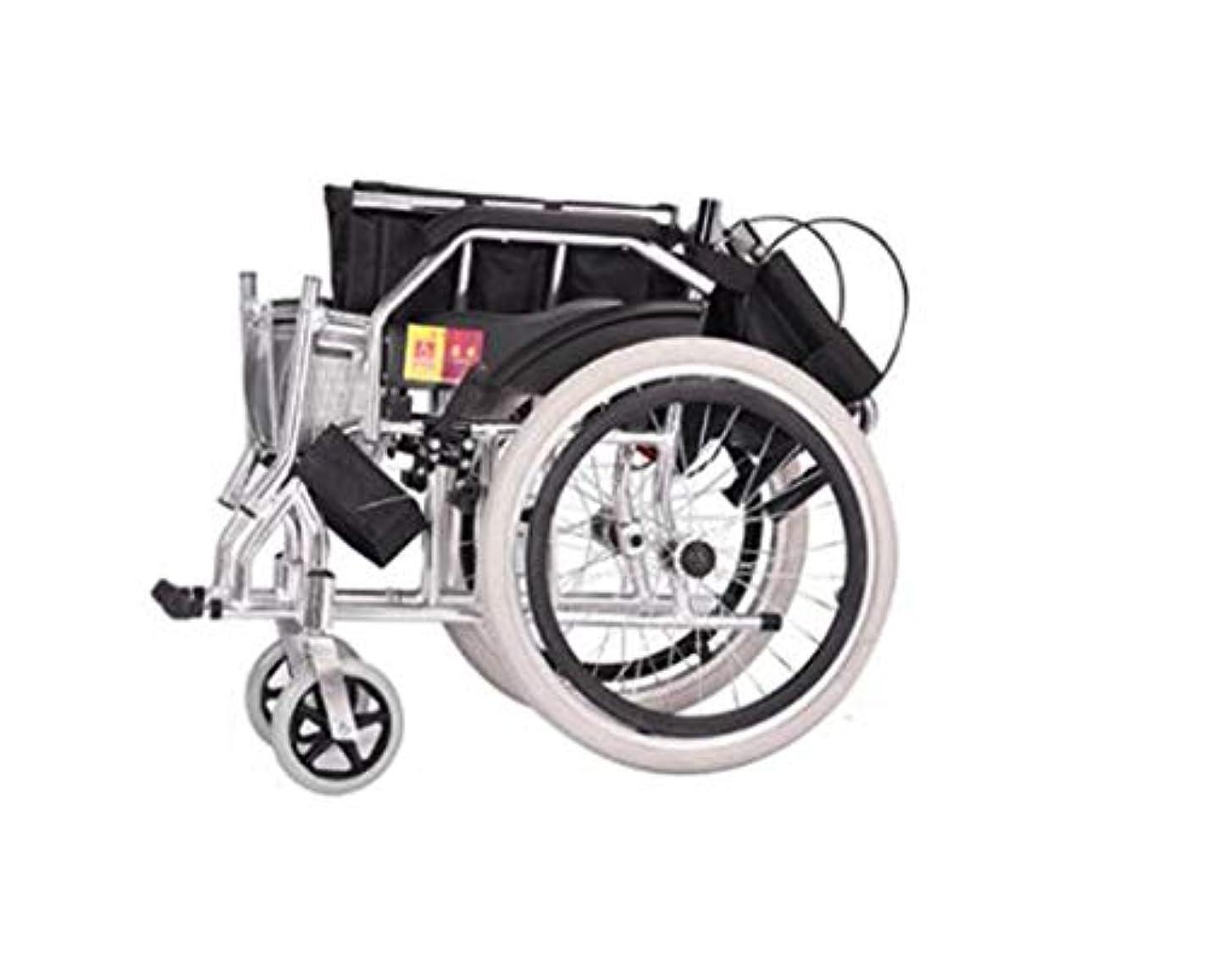 フェザー邪魔するスチュワード車椅子折りたたみライトキャリングベルト、超軽量アルミニウム合金多機能トロリー、高齢者、身体障害者用手動車椅子