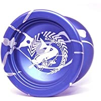 Tocas? Magic YOYO N12 Alloy Aluminum Metal Professional Yo-yos Toy Yo Yo Ball with 1 Gloves And 5 Strings-Blue With White [並行輸入品]
