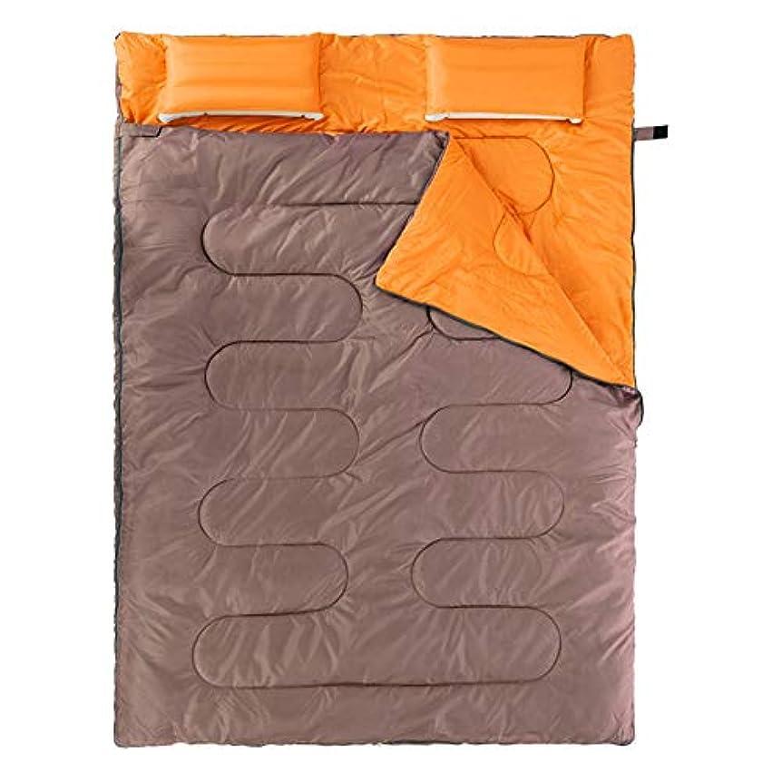 意図メアリアンジョーンズスリンクIAIZI 寝袋屋外大人キャンプ春と秋の寝袋カップル屋内キャンプ厚い暖かい (Color : Gray)