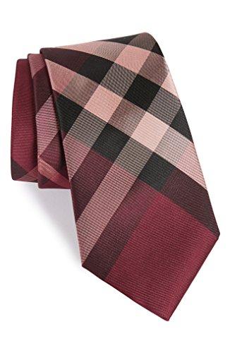 バーバリー アクセサリー ネクタイ Burberry Clinton Check Silk Tie Rose Pink [並行輸入品]