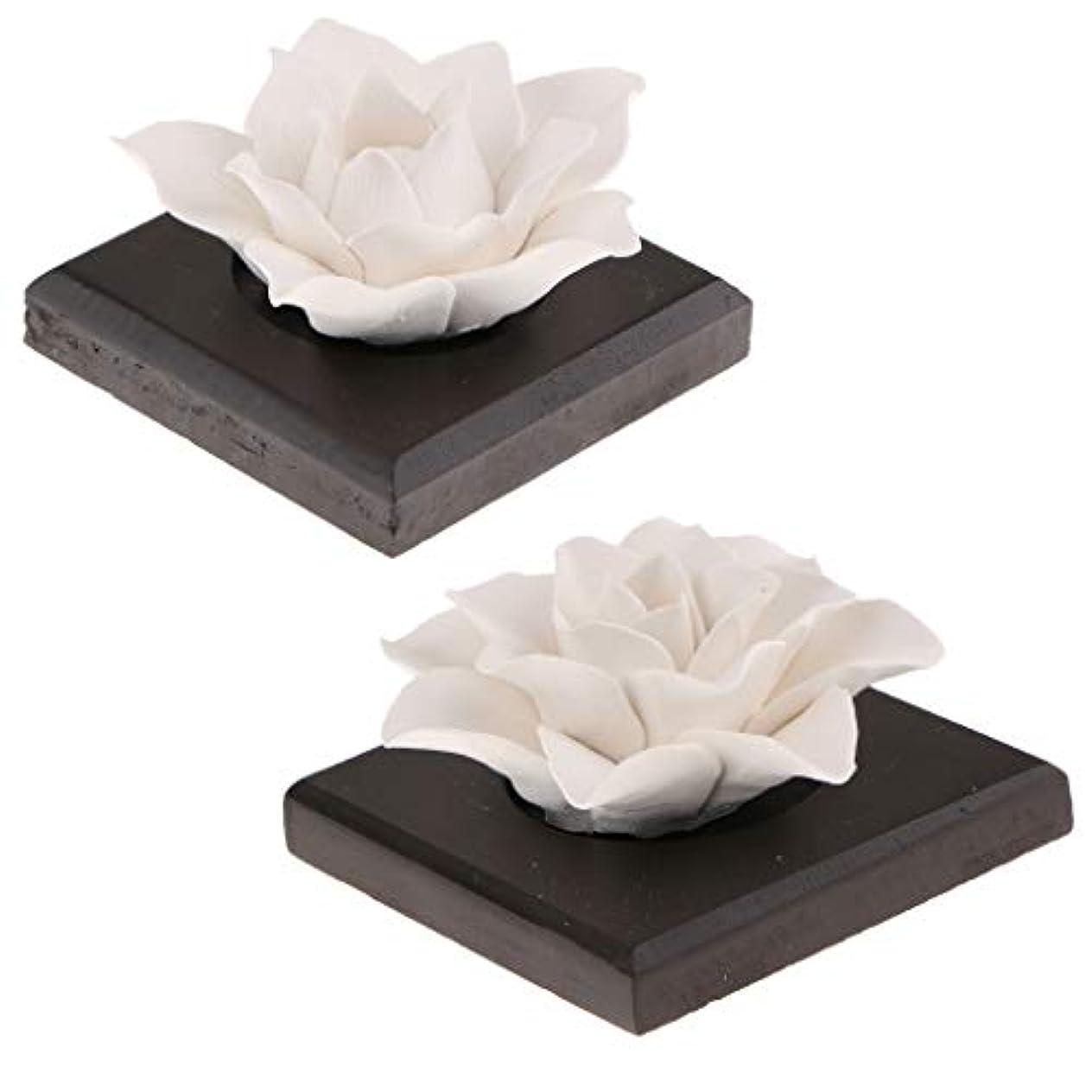提供されたバウンドアクティビティP Prettyia 2個 セラミック 花 エッセンシャルオイル 香水 香り ディフューザー