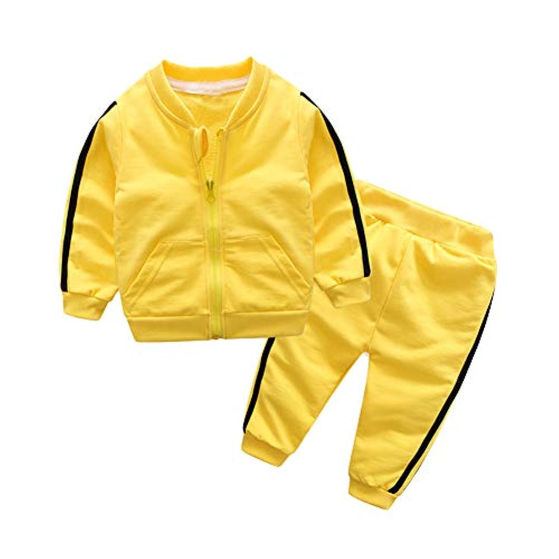HiCollie ベビー服 子供服 2点セット キッズ服 体操服 男の子 女の子 子供用 ジップトップ ジャケット+パンツセット 長袖 可愛い服 スポーツウェア ファッション