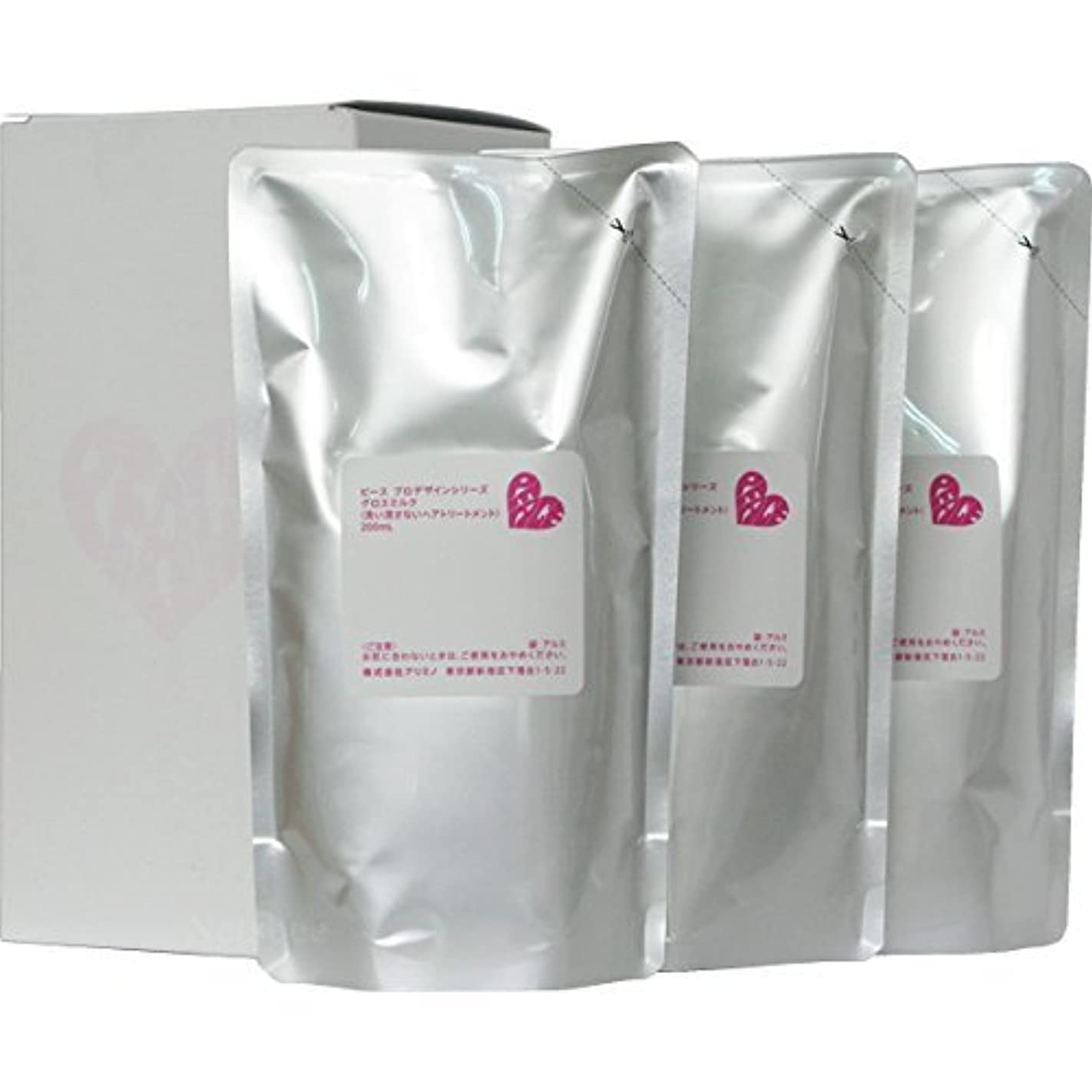 道徳の無人面ピース プロデザインシリーズ グロスミルク ホワイト リフィル 200ml×3