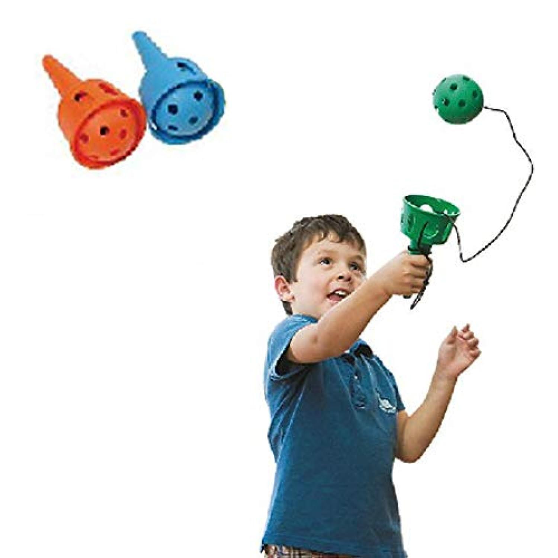 初心者のための2PCパック - 投げてキャッチ - 楽しいボールとカップ - ソフトボールけん玉 - モータースキルのおもちゃ
