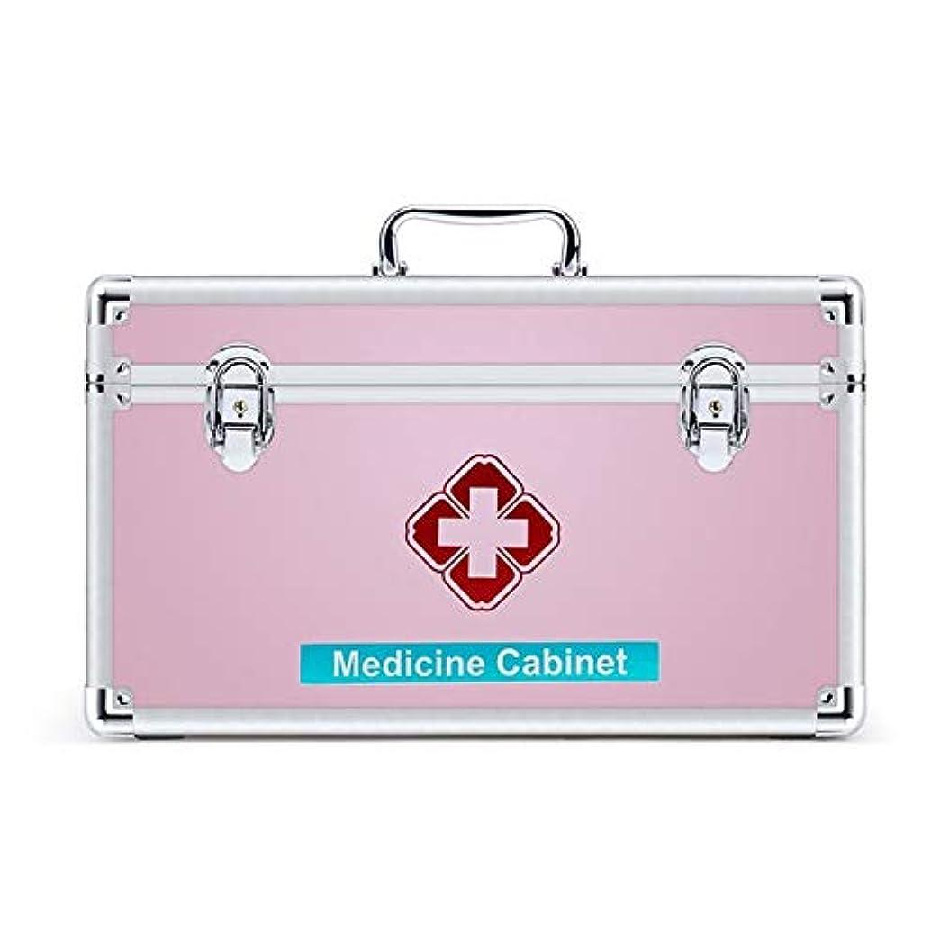 ボンド海洋の不要JJJJD 取り外し可能なトレイとハンドルが付いている救急箱、医学のオルガナイザーの収納箱の家族の非常用キットの収納ケース (Size : L)