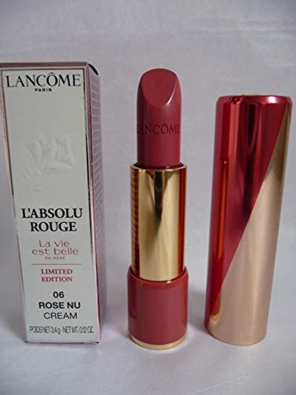 雇ったに付ける過敏なランコム L' Absolu Rouge Hydrating Shaping Lipcolor - # 06 Rose Nu (Cream) (Limited Edition) 3.4g/0.12oz並行輸入品