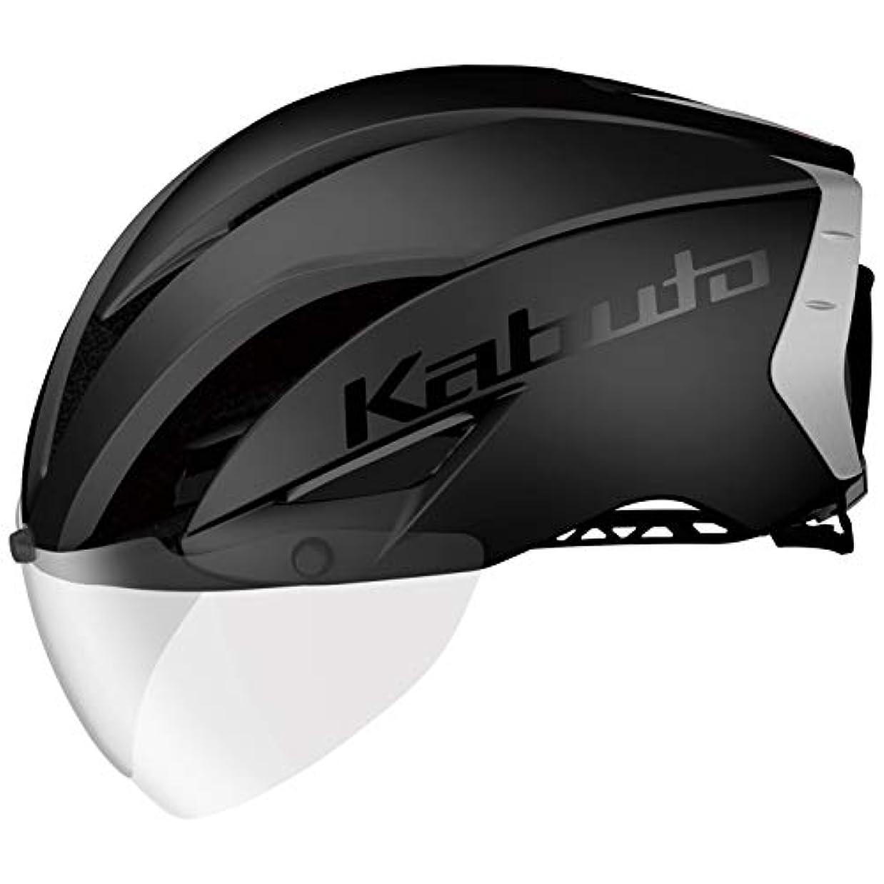 野心気がついてゴルフOGK KABUTO(オージーケーカブト) ヘルメット AERO-R1 (エアロ-R1) カラー:マットブラック-2 サイズ:XS/S(頭囲:54~56cm)