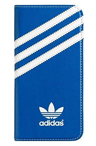 adidas(アディダス) iPhone6/iPhone6s 専用 手帳型 レザー ケース カードホルダー付 青×白ロゴ [並行輸入品]