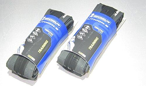 【国内正規代理店品】 Michelin【ミシュラン】 LITHION 2 V2【リチオン2 V2】 ロード用クリンチャータイヤ 2本セット (ダークグレー, 700×23)