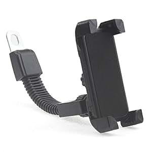 バイク用スマートフォンホルダー バックミラー固定式 フレキシブルアームで角度自在 スマートフォンをカーナビ代わりに FMTTORE002
