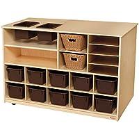Wood Designsモバイルストレージ島withトレイ 962902 1