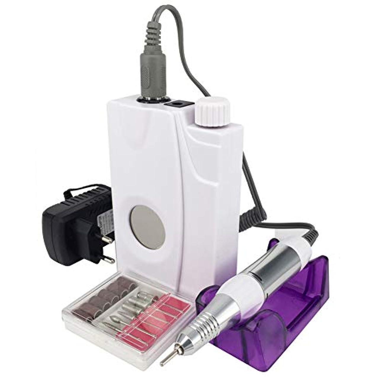 ぐったりお金アドバイス電気釘のドリル機械再充電可能なコードレスマニキュア30000 RPMの釘装置のための携帯用ペディキュアセット