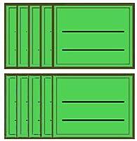 カラーライン ラベルセット-L グリーン
