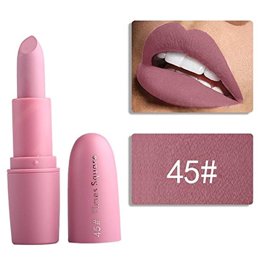 立方体案件ピックMiss Rose Nude Lipstick 22 colors Waterproof Vampire Brown Beauty Baby Lips Batom Matte lipstick Makeup Tats Eugenie...