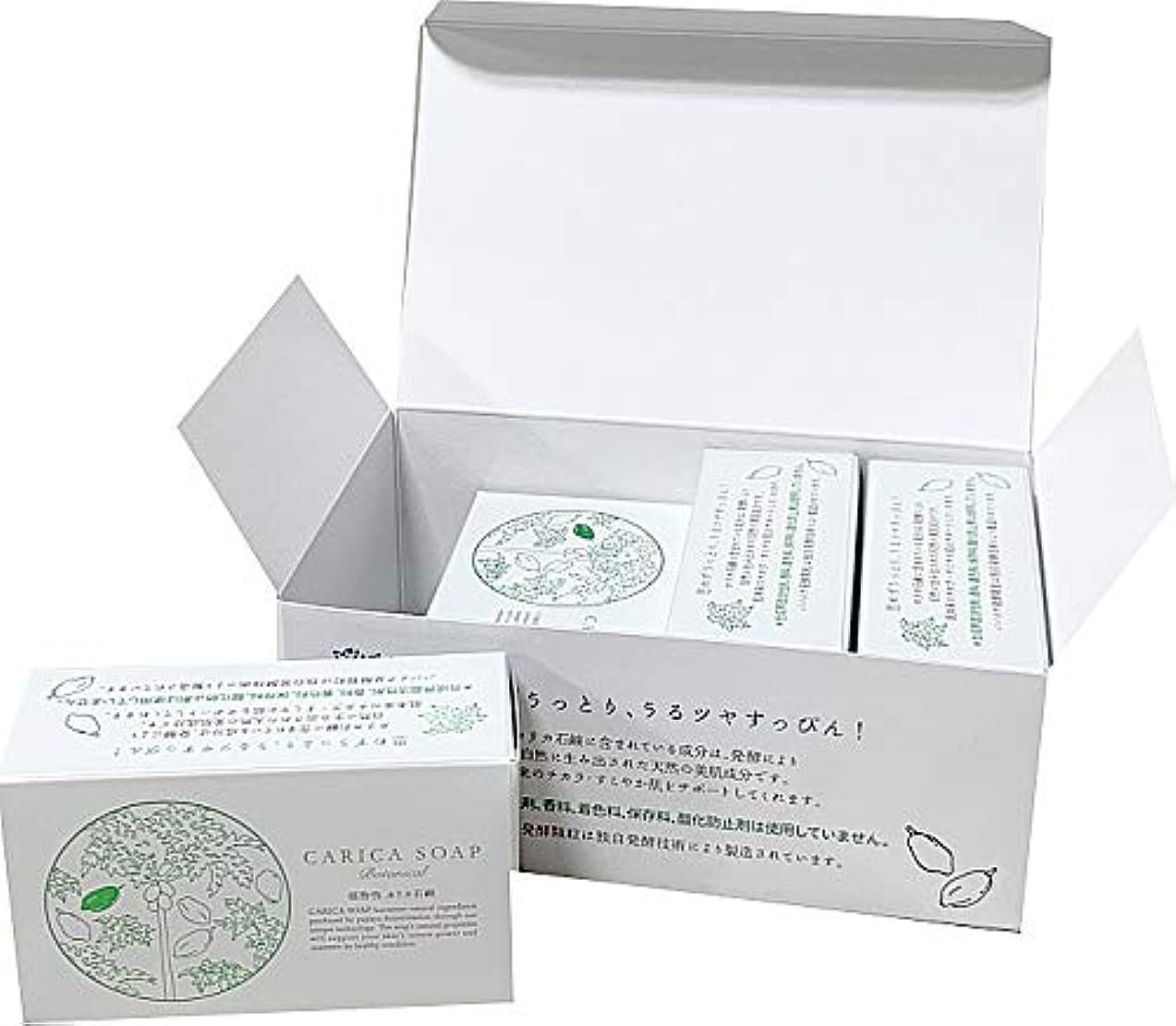 変色する静かに静的植物性カリカ石鹸100g お得な4個セット(箱入)