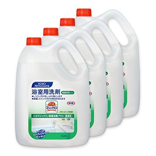 【浴室用洗剤】バスマジックリン 除菌消臭プラス 業務用4.5L×4本(ケース販売)