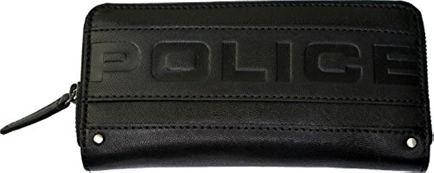 繊維打撃肉屋(ポリス) POLICE METRO(メトロ) 山羊革 ラウンドファスナー長財布 PA-58102 ブラック