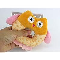 Dalinoベイビーズおもちゃベビーラウンドかわいい動物フクロウRattles Hand Toy (オレンジ)