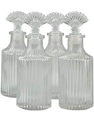 4本セット高級アロマ精油拡散ボトル、オフィス、ショップ、ホーム高品位アロマガラスボトル 200ml
