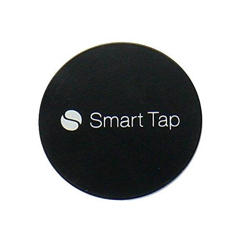 Smart Tap スマートタップ ブラックメタルプレート マグネットホルダー用 (2枚入り・保護シール付) 貼替用 車載ホルダー マグネット式 iPhone 6s (4.7) / Plus (5.5) / 5s / 5c / 4s Galaxy S6 / S6 Edge / S5 / S4【iPhone4/5/6s/Plus /Galaxyシリーズ/他、適合機種多数】
