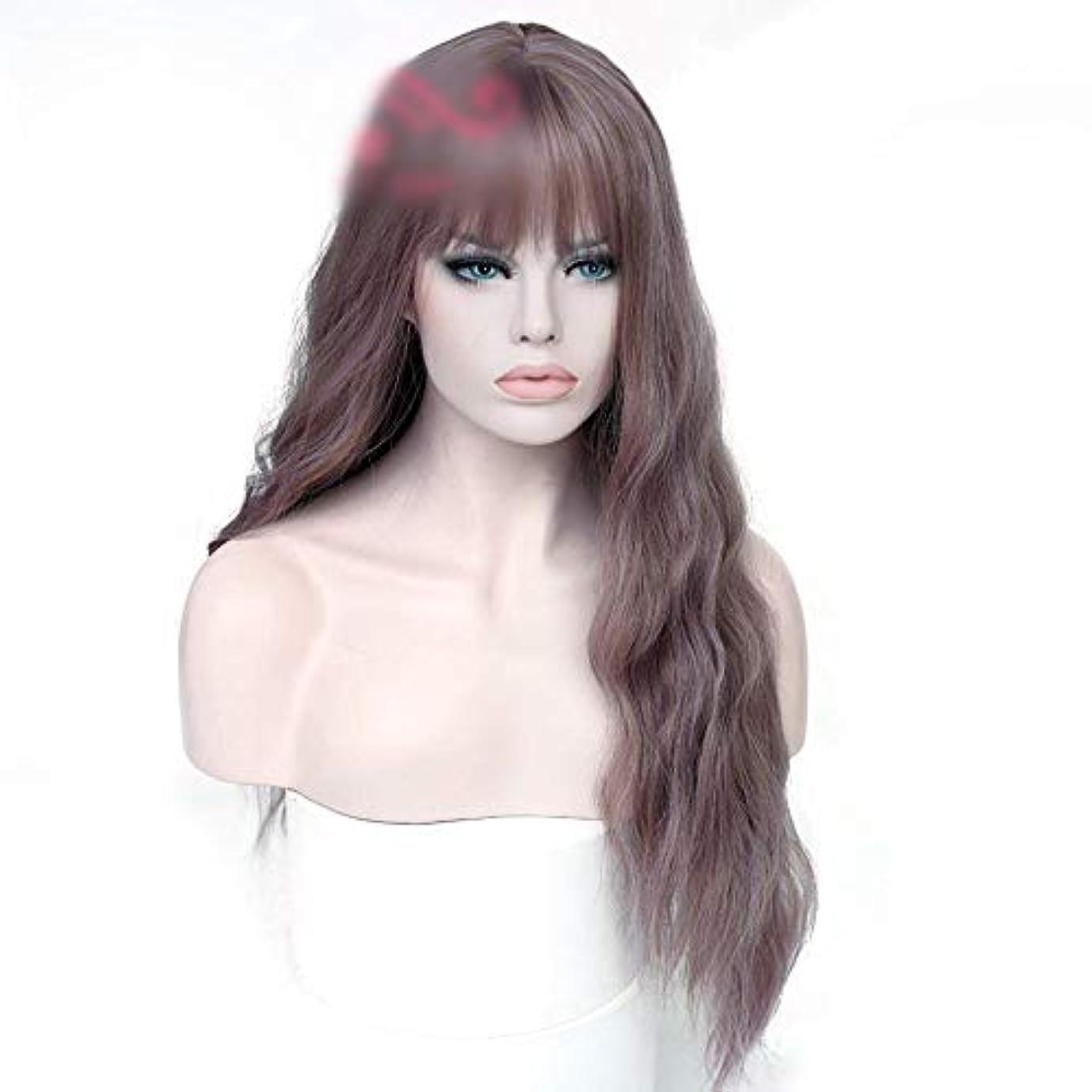 インレイクリーム疲労WASAIO 毎日のヘアバンの女性の長い巻き毛 (色 : Photo color)