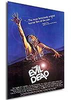 InstabuyポスターThe Evil Dead-Tanz der Teufel Vintage Theaterplakat-A3(42x30 cm)