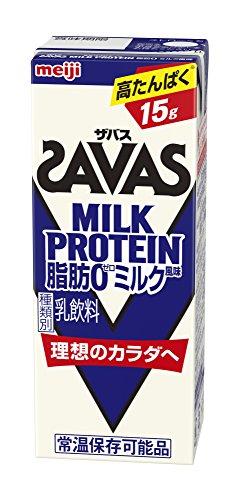 [冷蔵] 【高たんぱく15g】 明治(ザバス)MILK PROTEIN(ミルクプロテイン)脂肪0 ミルク風味 200ml