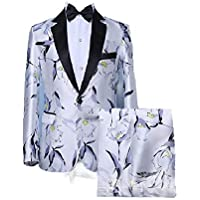 Howely Men Stage Clothing Printed Premium Suits Jacket and Trousers