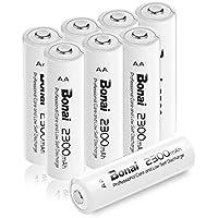Bonai 単3形 充電池 充電式ニッケル水素電池 8個パック PSE/CEマーキング取得 UL認証済み(高容量2300mAh 約1200回使用可能)