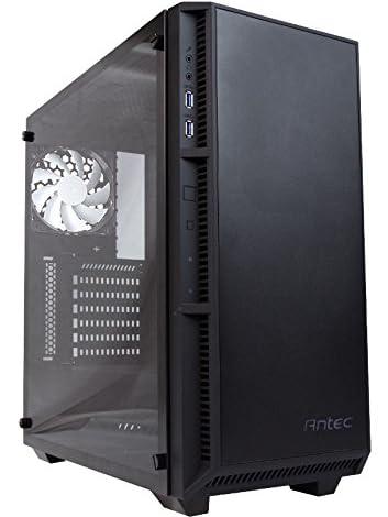 ANTEC ATX対応 ミドルタワー PCケース 強化ガラス,ホワイトLEDファンを3基標準搭載 P8