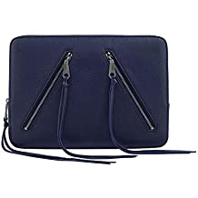 Rebecca Minkoff Double Zip Sleeve (Certified Refurbished) Eclipse Pebble Leather one Size