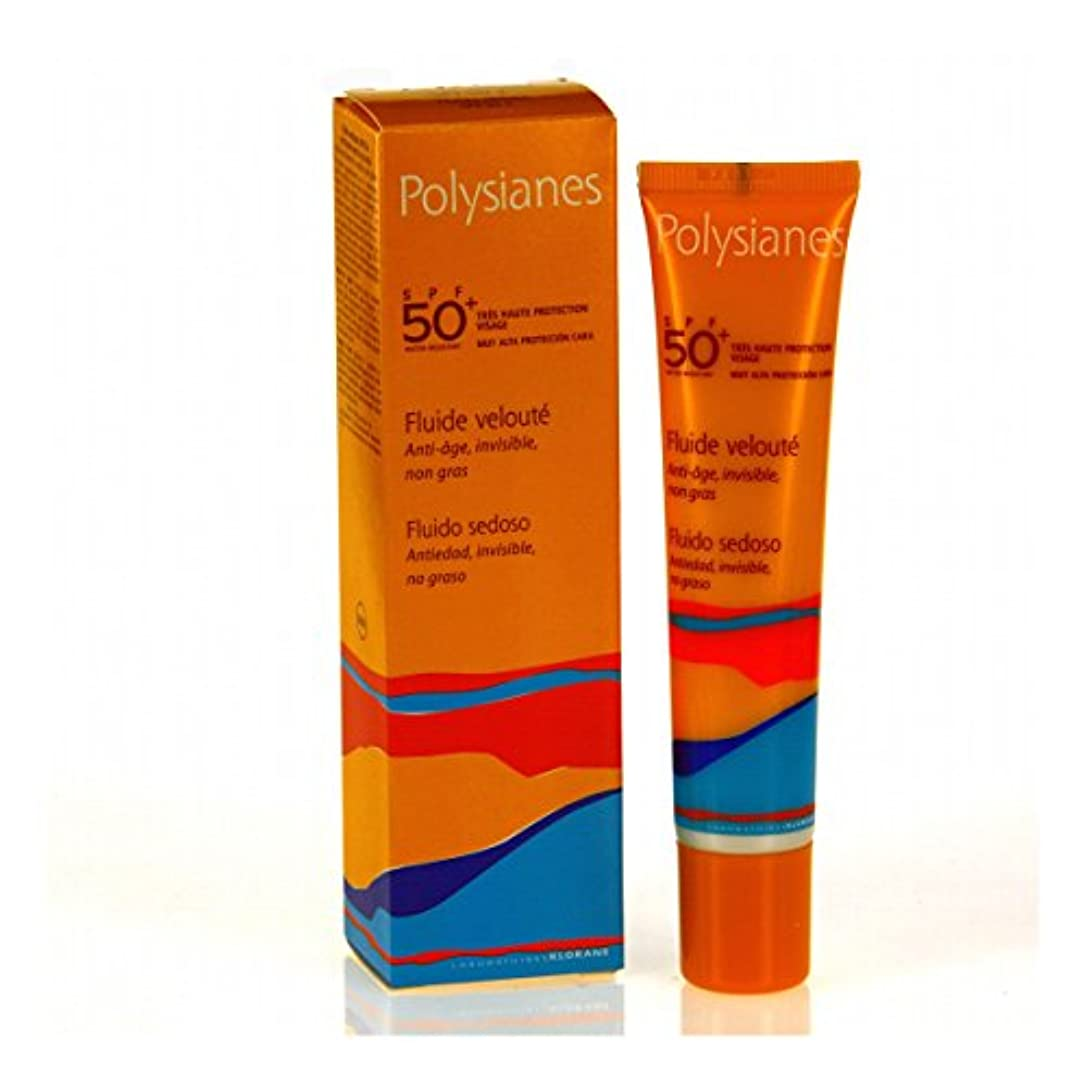転倒熱日Polysianes Velvety Fluid Spf 50+ 40ml [並行輸入品]