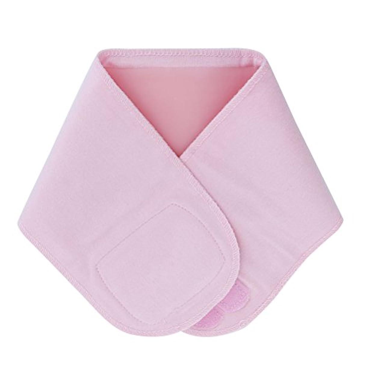 へこみ苦しみクリケットLurrose ジェルネックラップ伸縮性保湿スムースホワイトニングネックスキンアンチリンクルカラー(ピンク)