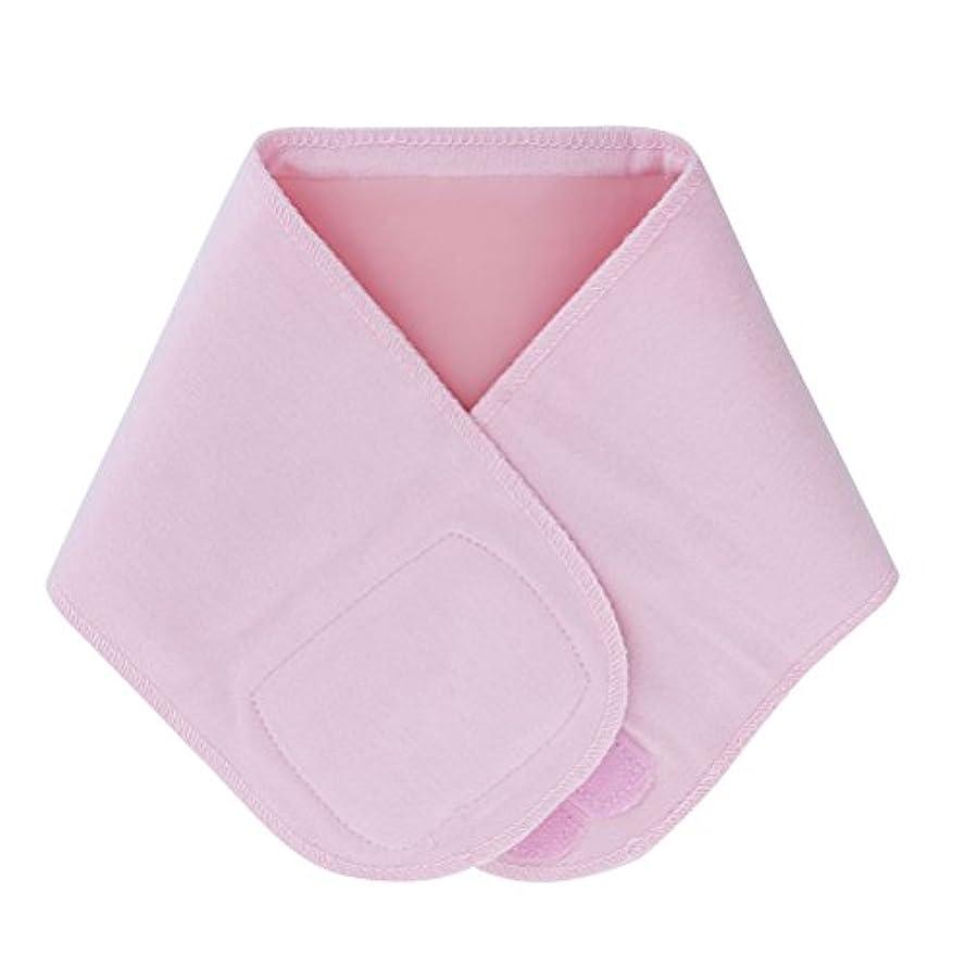 疲労老人ニッケルLurrose ジェルネックラップ伸縮性保湿スムースホワイトニングネックスキンアンチリンクルカラー(ピンク)