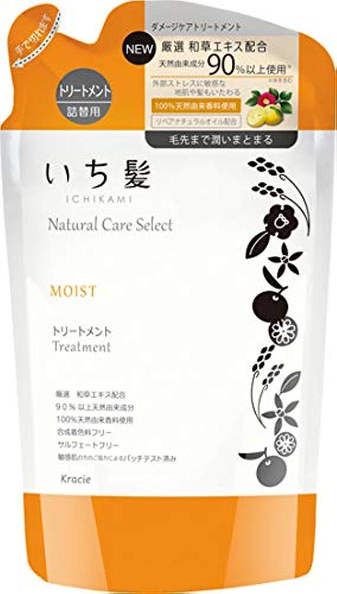 フラッシュのように素早く梨安西いち髪ナチュラルケアセレクト モイスト(毛先まで潤いまとまる)トリートメント詰替340g シトラスフローラルの香り