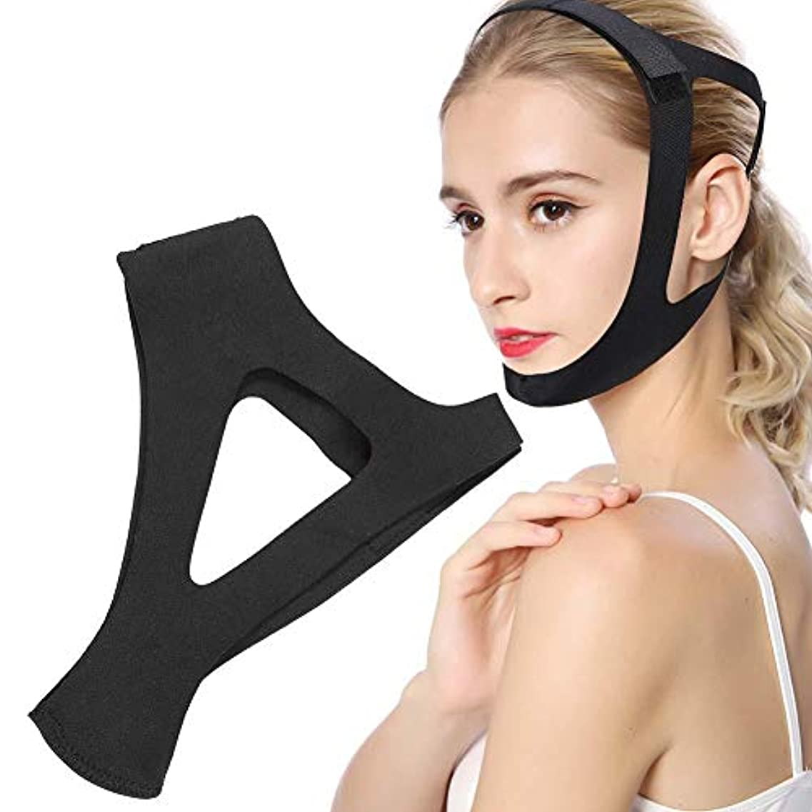 適用する合図神のあごのサポートベルト、普遍的な男性と女性の顎顔面リフティングストラップ男性と女性のためのいびきの適切な睡眠