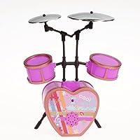 ドール用 人形用 ドラム セット ショッキングピンク アクセサリー