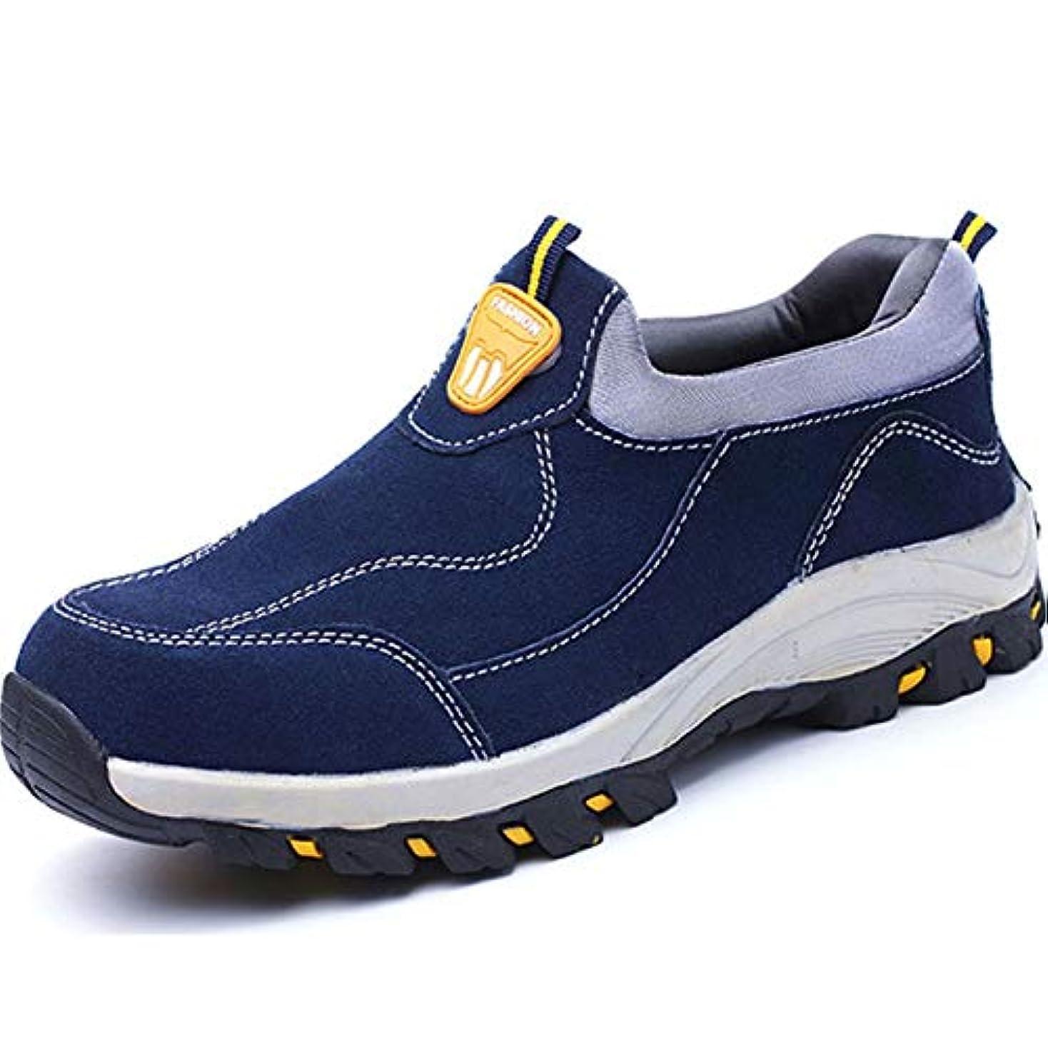 凍る継承助けてセーフティシューズ男性軽量女性ワークトレーナーレディーススチールトーキャップ靴穿刺防止保護履物スポーツスニーカー (Color : Blue, Size : 43)
