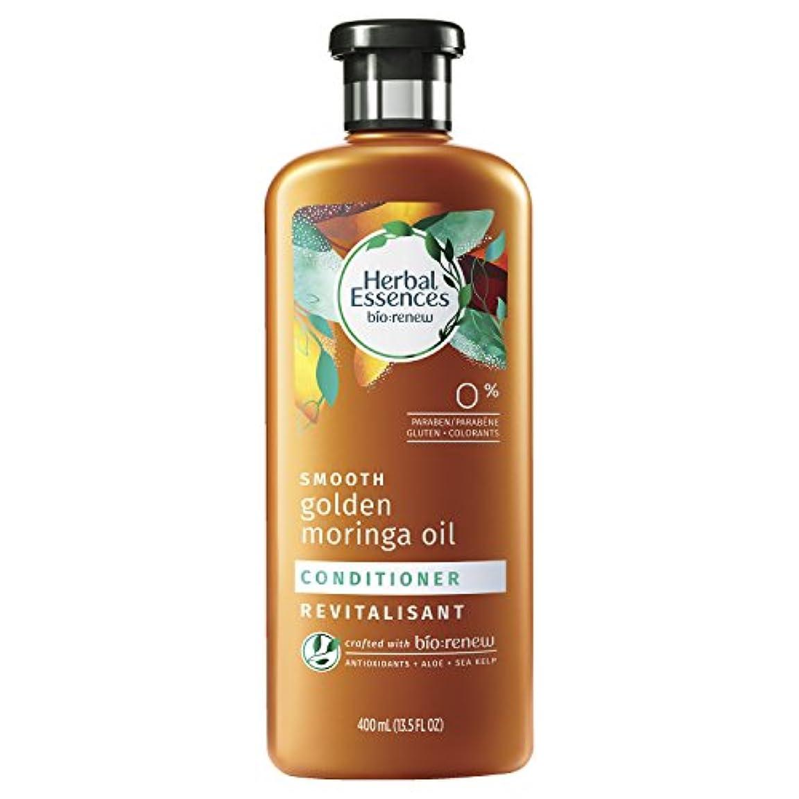 葉巻フォーマット火薬Herbal Essences ゴールデンモリンガオイルコンディショナー、13.5液量オンス(2パック)をスムーズBiorenew