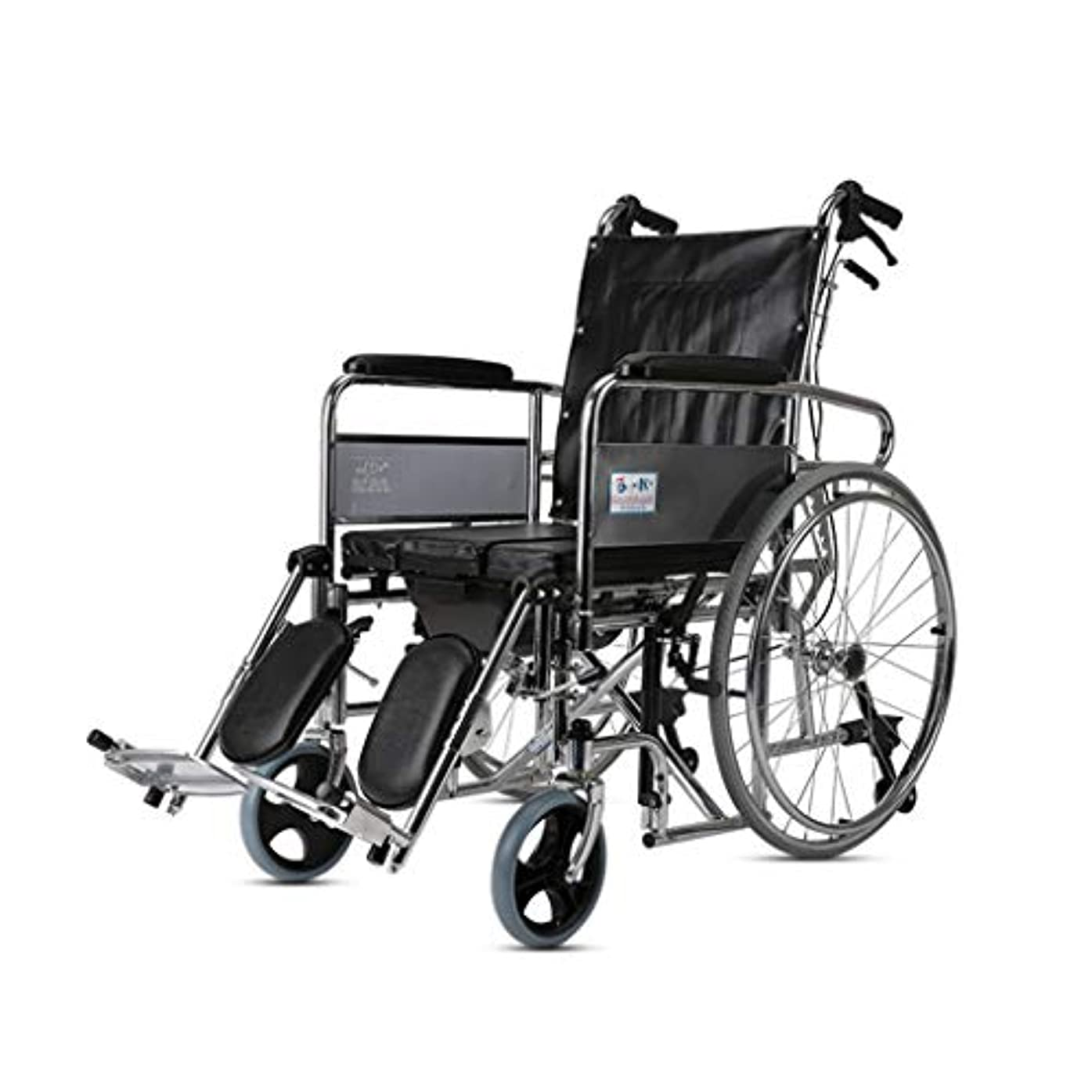 すき圧力ハック折り畳み式車椅子超軽量ポータブル多機能ハンドプッシュ車椅子高齢者と障害者のために人間工学に基づいた