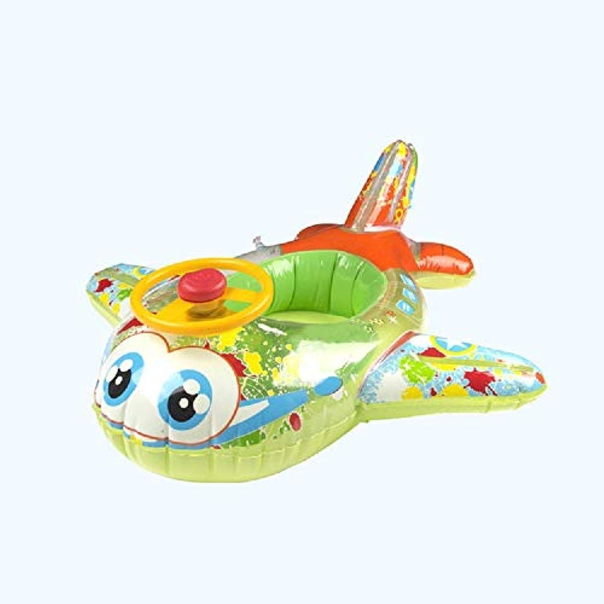 変化枕。飛行機の形 浮き輪 子供用 足入れ浮き輪 海水浴 ブルー 水遊びに大活躍 ロート 安全 丈夫 スイミング ビーチ 水遊び お風呂 水泳補助具