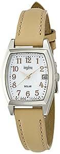 [セイコー]SEIKO 腕時計 ingene アンジェーヌ ソーラー カーブハードレックス 日常生活用強化防水(10気圧) 革バンド トノー型 AHJD076 レディース