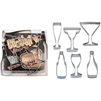 Beverages - Wine, Champagne, Martini, Margaritas, Beer Cookie Cutter Set - 6 Piece - 1978
