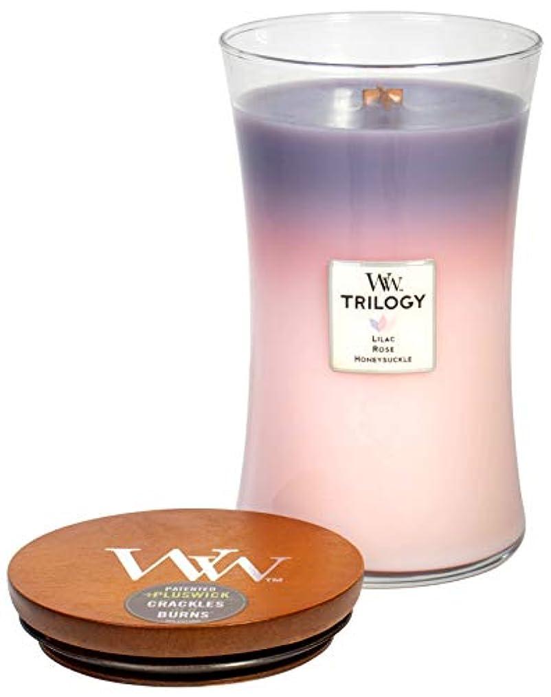 休戦姪リフレッシュWoodWick トリロジー ボタニカルガーデン 3-in-1 高香りのキャンドル クラシックな砂時計ジャー 蓋付き 21.5オンス