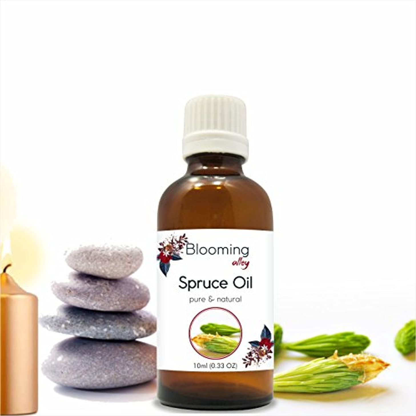 ワーカー休憩するブロンズSpruce Oil(Tsuga Canadensis) Essential Oil 10 ml or 0.33 Fl Oz by Blooming Alley
