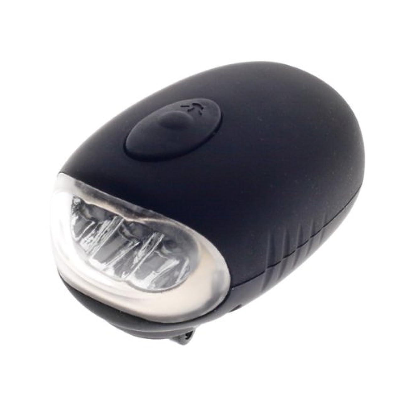 宿題ジョットディボンドン複製FJK LEDダイナモフラッシュライト D001 ブラック
